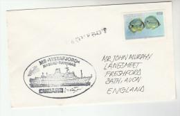 BAHAMAS PAQUEBOT Stamps COVER Fish Cruise Ship - Bahamas (1973-...)