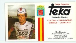 Nico EMONDS . 2 Scans. Cyclisme. Teka 1984 - Wielrennen