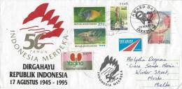 Indonesia 1995 Djakarta Freshwater Fish Kidney Hinduism Independence Cover - Indonesië