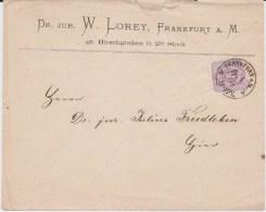 DR Pfennige Mi 32 Aptierter Franco Stempel Bf Frankfurt Main 1875 - Briefe U. Dokumente