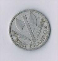 1 Franc Francisque, Légère 1942 Paris  - France - France