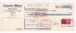 Carnot Motos, Pierre Degois, Limoges 1957 - Bills Of Exchange