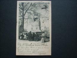 Montpellier Fontaine Des Chevaux Marins, Animation - Brun éd. 404 Dos Simple Circulée 1903 L232 - Montpellier