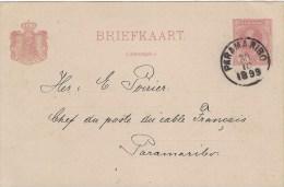 Suriname 1899 Paramaribo Chef Du Poste Du Cable Francais Domestic Postcard Briefkaart - Suriname ... - 1975
