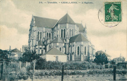 Dép 85 - Challans - L'église - état - Challans