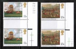GREAT BRITAIN   Scott  # 863-6**  VF MINT NH GUTTER PAIRS - 1952-.... (Elizabeth II)