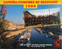CALENDRIER ANNEE 1994 - Sapeurs-Pompiers De Beaucaire - Trés Bon état - - Calendriers