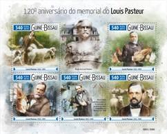 Guinea Bissau. 2015 Louis Pasteur. (608a) - Louis Pasteur