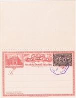 TR-L6 - GUATEMALA Entier Postal Carte Illustrée Avec Réponse Payée Exposition De L'Amérique Centrale 1897 Train / Bateau - Guatemala