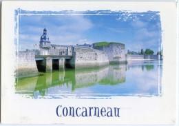 Couleurs De Bretagne - CONCARNEAU - La Ville Close - Le Beffroi - écrite (pour Jeu) - 2 Scans - Concarneau