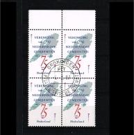 1987 - Netherlands NVPH 1385 Used (4-block) - Association Of Dutch Municipalities [A56_062] - Period 1980-... (Beatrix)