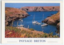 Paysage Breton - Les Bateaux Se Nichent Dans Les Nombreuses Criques De La Côte - écrite (pour Jeu) - 2 Scans - Bretagne