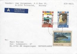 Faroer Foroyar 1999 Torshavn Landscape Aerial Legends Cover - Faeroër
