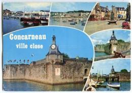 Séjour Aimé Des Peintres CONCARNEAU Est Célèbre Par Son Port Et Sa « Ville Close » - écrite Timbre Enlevé - 2 Scans - Concarneau