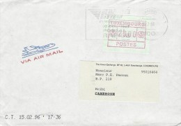 Luxemburg Luxembourg 1996 ATM FRAMA Franking EMS Slogan Cover - Marcofilie - EMA (Print Machine)