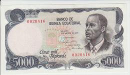 Equatorial Guinea 5000 Bipkele 1979 Pick 17 UNC - Equatoriaal-Guinea