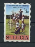SAINT  LUCIA    1977    Carabbean  Boy Scout  Jamboree    1/2c  Scouts     MH - St.Lucia (...-1978)