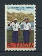 SAINT  LUCIA    1977    Carabbean  Boy Scout  Jamboree    1c  Sea  Scouts     MH - St.Lucia (...-1978)