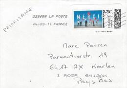 France 2011 Les Préaux Merci ATM Unperforated Meter Franking Cover - 2010-... Geïllustreerde Frankeervignetten