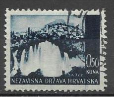 Croatia  1943 Mi# 48 Used - Croazia