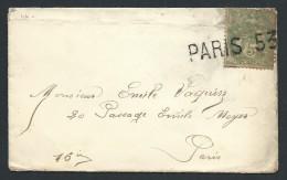 FRANCE - Cachet De Paris 53 Sur Petite Enveloppe Affr.au Type Blanc- à Voir - Lot P13818 - Marcophilie (Lettres)