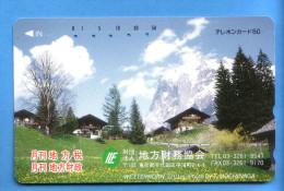 Japan Japon Telefonkarte Télécarte Phonecard - Berg Mountain Swiss Schweiz Wetterhorn - Gebirgslandschaften