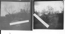 Canon Allemand De 150mm Contrebatterie Longue Portée 2 Photos 1914-1918 14-18 Ww1 Wk1 - Guerra, Militari