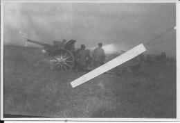 Felkanone 16 Canon De 77mm Allemand En Batterie 1 Photo 1914-1918 14-18 Ww1 Wk1 - Guerra, Militari