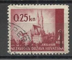 Croatia  1943 Mi#82 Used - Croazia