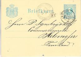1880 Bk G10 Van LEIDEN Via St. Petersburg Naar Helsingfors In Finland - Postwaardestukken