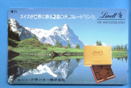 Japan Japon Telefonkarte Télécarte Phonecard - Berg Mountain Swiss Schweiz  Lindt - Mountains