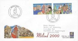 Malta 2000 San Gwann Christmas FDC Cover - Malta