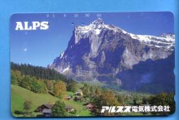 Japan Japon Telefonkarte Télécarte Phonecard - Berg Mountain Swiss Schweiz  Alps - Mountains