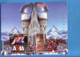 Japan Japon Telefonkarte Télécarte Phonecard - Berg Mountain Swiss Schweiz  Matterhorn Puzzle - Mountains