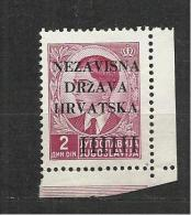 Croatia  1943 Mi#4 MLH** - Croazia