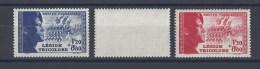FRANCE. YT 565/566 Pour La Légion Tricolore 1942 Neuf * - Nuevos