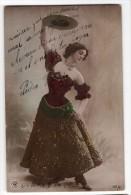 Woman Actress Dancer Spaniard Type Hat Pose Vintage Original Ca1900 Postcard Cpa Ak (W4_1801) - Mujeres
