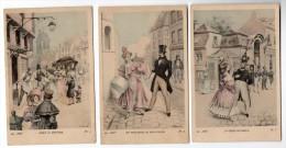 En 1830 -  Illustration A. MULLER - Ed. --, N° 1  6 And 7 Vintage Original Ca1900 Postcard (W4_1806) - Ilustradores & Fotógrafos