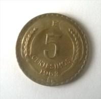 5 Centesimos 1963- - Chile