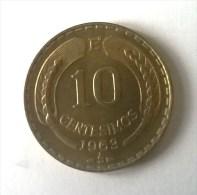 10 Centesimos 1963- - Chile