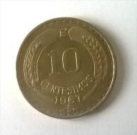 10 Centesimos 1967 - - Chile