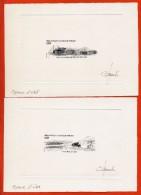 TAAF N° 610/11 2 EPREUVES D'ARTISTE STATION SISMOLOGIQUE - Imperforates, Proofs & Errors