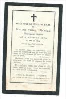 GENEALOGIE.. IMAGE PIEUSE MEMENTO édit. Lesort....Me Vve LEMASLE Décédée En 1879 Au VAL SAINT PERE (50) - Santini