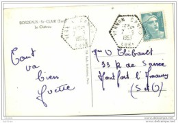 Cachet Correspondant Postal N°12 Vernon Eure 1953 Gandon Frappe Superbe - Storia Postale