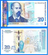 Bulgarie 20 Leva 2007 Neuf UNC Bulgaria Stambolov Pont Sofia Animal Lion Skrill Paypal Bitcoin - Bulgaria