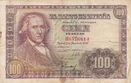 BILLETE DE ESPAÑA DE 100 PTAS DEL 2/05/1948 SERIE B CALIDAD   BC  (BANKNOTE) - [ 3] 1936-1975 : Régimen De Franco