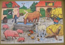 Puzzle Les Animaux De La Ferme Cadeau BONUX Cheval Cochon Poule Coq Agneau Chat Canard Pub - Plaques Publicitaires