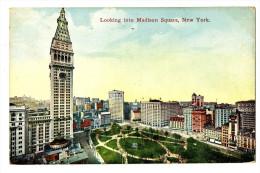 CPA Amérique Etats-Unis New-York Looking Into Madison Square - Multi-vues, Vues Panoramiques