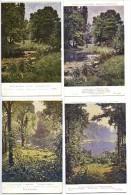 4 CPA PAR HENRI BIVA SALON DE PARIS - SALON 1913 - Paintings