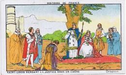 Cromo  CHICOREE EMILE BONZEL  Saint Louis Rendant La Justice Sous Un Chene - Chromos